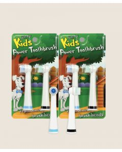 Just for Kids Power Toothbrush Brush Heads (4 Pack)
